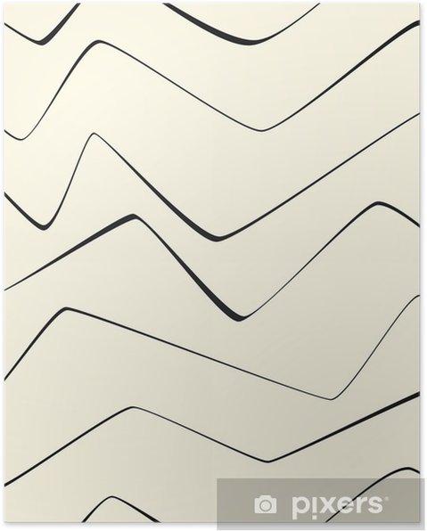 Poster Naadloze herhalen Minimal lijnen abstract strepen papier textiel patroon - Grafische Bronnen