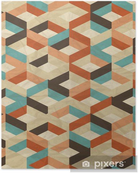 Poster Naadloze retro geometrisch patroon. - Stijlen