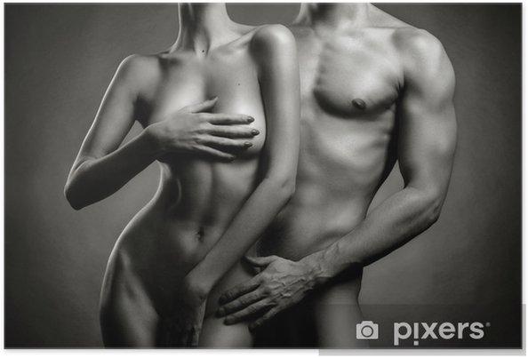 Poster Naakt sensuele paar - Naaktheid