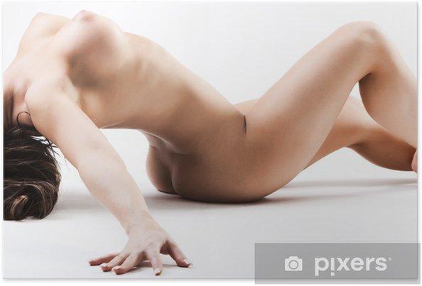 Poster Naken kvinna med stora bröst böjd över bakåt - Teman