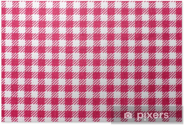 poster nappe à carreaux fond de texture rouge et blanc, serviette en
