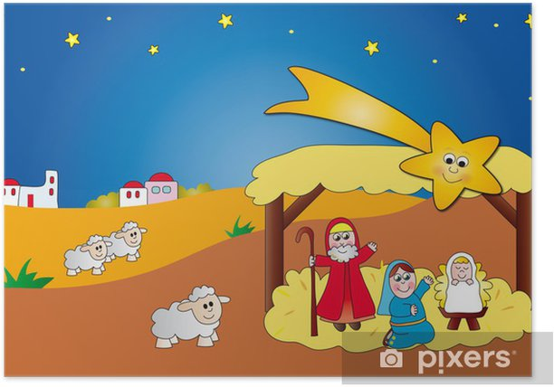 Poster Nativité - Fêtes internationales