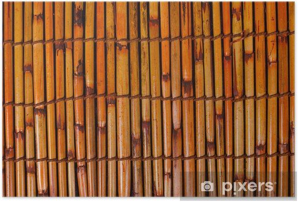 Poster Natte de bambou .. - Asie