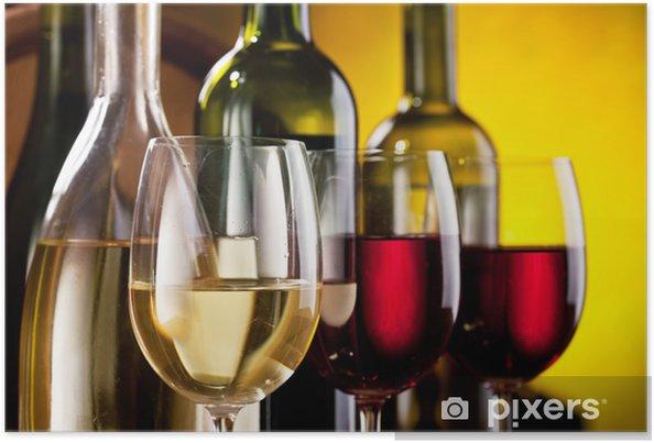 Poster Nature morte avec des verres à vin - Thèmes