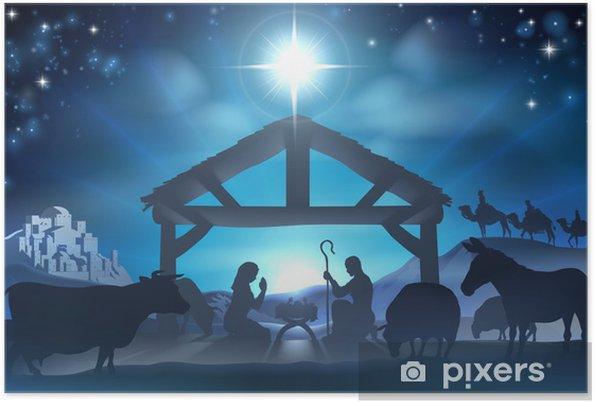 Póster Navidad Belén - Navidad