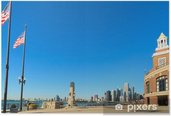Poster Navy Pier Chicago Downtown - Amérique