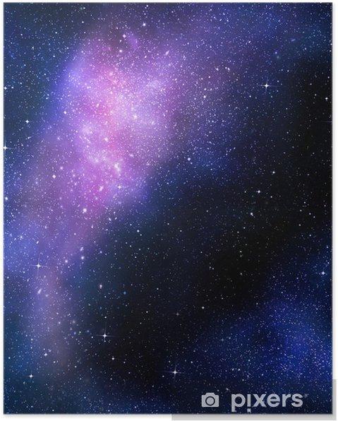 Póster Nebual estrellado profundo espacio exterior y la galaxia - Estrellas