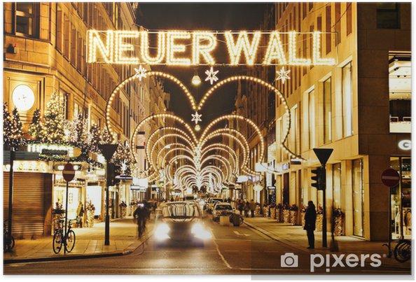 Neuer Wall Weihnachtsbeleuchtung.Poster Neuer Wall Hamburg In De Kersttijd