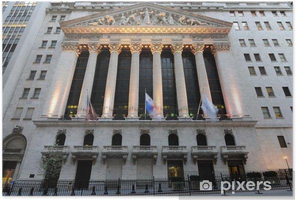 Poster New York-börsen - Amerikanska städer