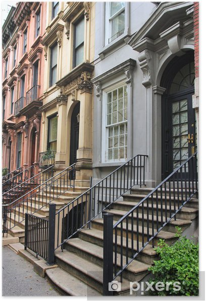 Poster New York Brownstone. - Infrastructures