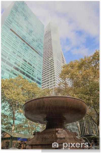 Poster New York - Bryant Park - Villes américaines