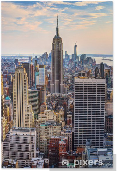 New York City at Dusk Poster -