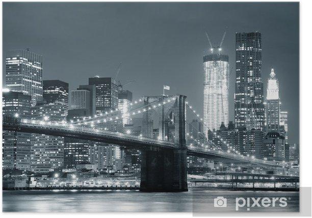 New York City Brooklyn Bridge Poster -