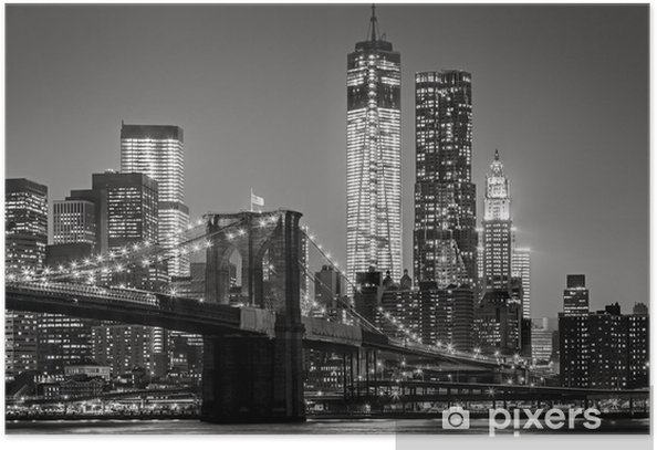New York City by night Poster -