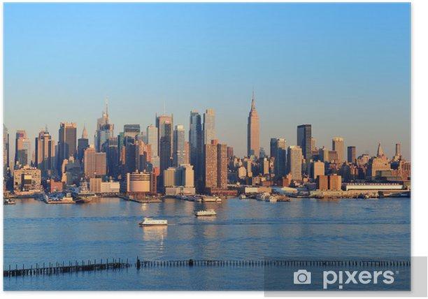 Poster New York City coucher du soleil - Autres