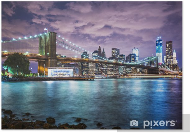 New York City lights Poster - Themes