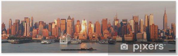 Poster New York City Manhattan skyline panorama - Amérique