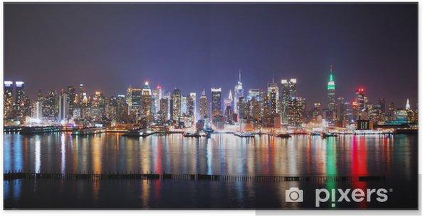 Poster New york city night panorama - Thèmes
