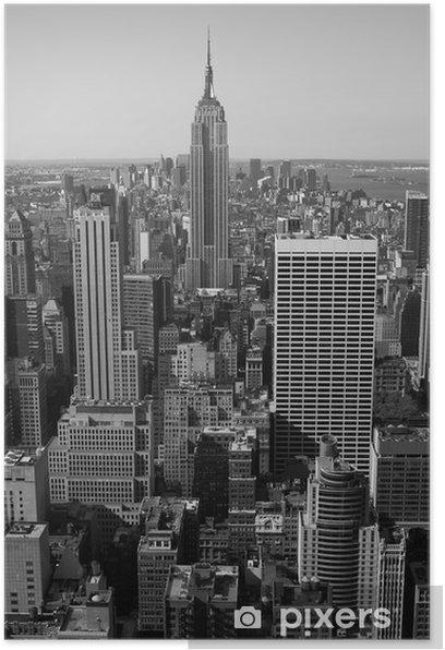 New York City Panorama Black White Poster