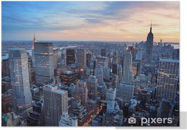 New York City sunset Poster - Styles