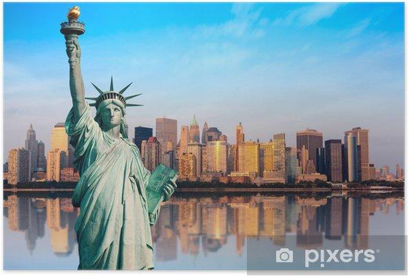 Poster New York standbeeld de la Liberte - Thema's