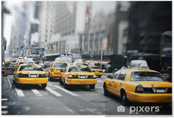 Poster New York Taxi.New York Taxis Poster Pixers We Live To Change