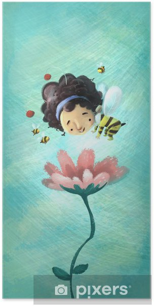 Póster Niña abeja - Celebraciones