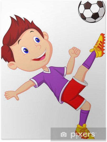 Poster Nino Jugando Futbol Pixers Vivimos Para Cambiar