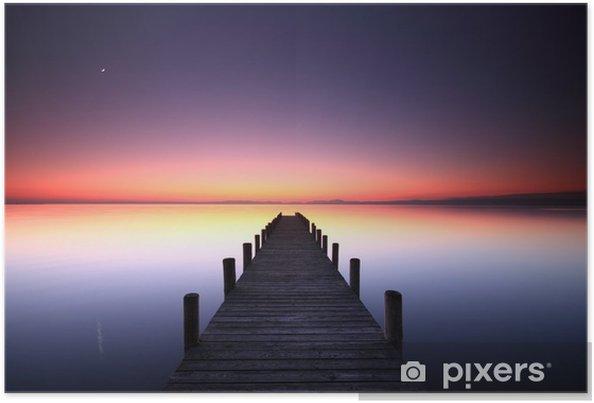 Póster Noche colores juego - Agua