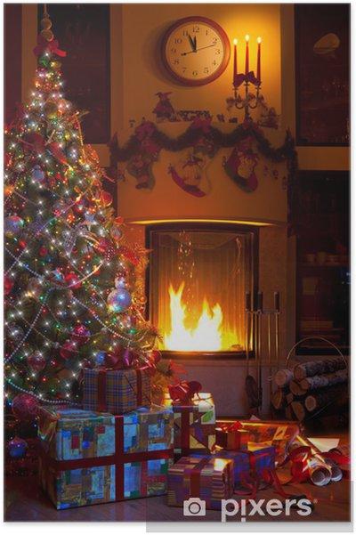 Poster Noël décoration intérieure - Fêtes internationales