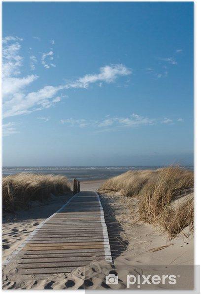 Nordsee Strand auf Langeoog Poster -