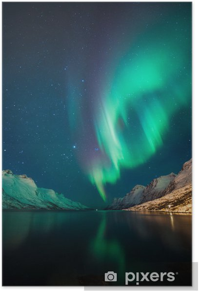 Northern Lights in Norway Poster - Themes
