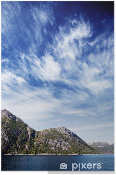 Poster Norvège paysage du fjord - Europe