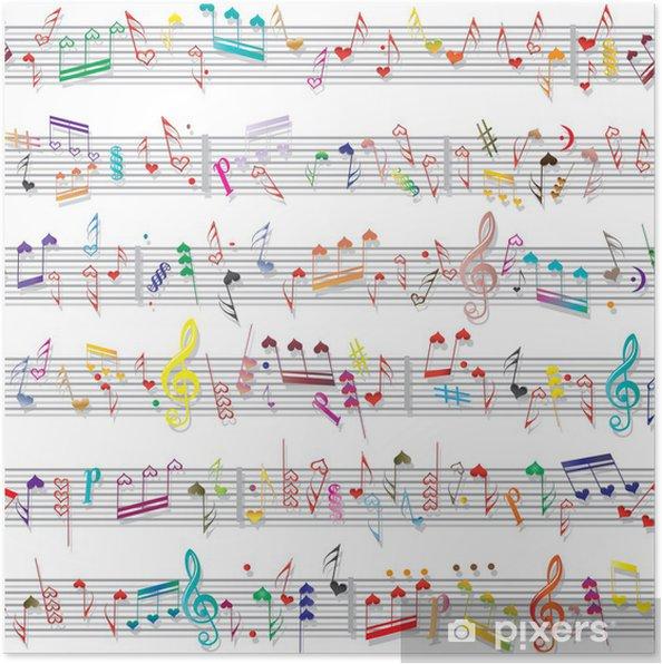 Póster Nota musical sonido textura - Celebraciones internacionales