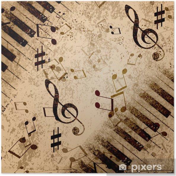 Póster Notas de la música de fondo - Estilos