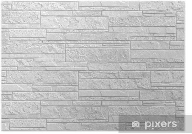 Poster Nouveau sol blanc fond de mur de briques et de texture - Industrie lourde