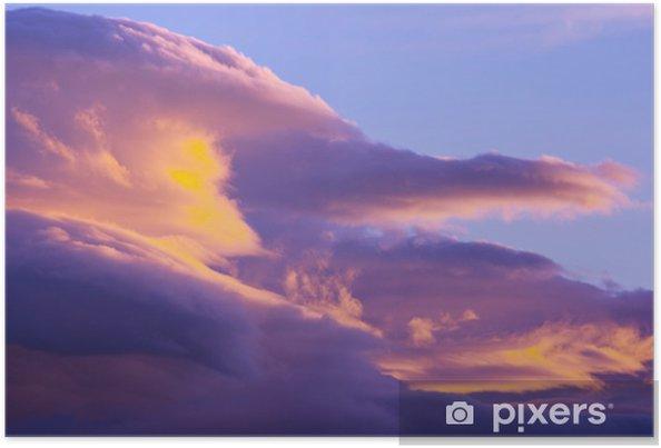 Poster Nuages au coucher du soleil - Thèmes