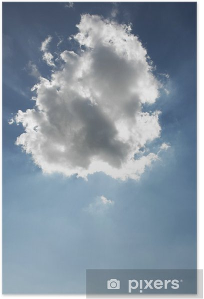 Poster Nuages au-dessus de ciel bleu - Ciel