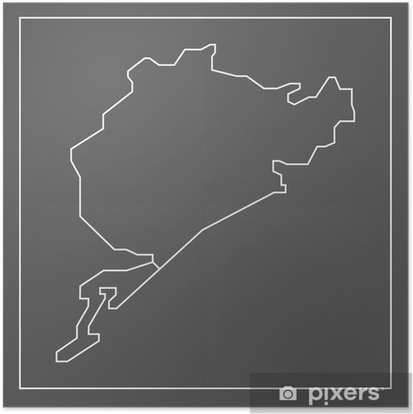 Póster Nürburgring - Nordschleife - Streckenverlauf - Deportes extremos