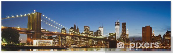Poster NYC Brooklyn Bridge Panorama - Brooklyn Bridge