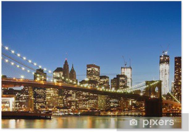 NYC Brooklyn Bridge Panorama Poster - Brooklyn Bridge