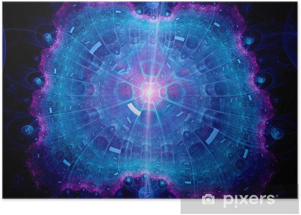 Poster Objet de l'espace abstrait - Espace