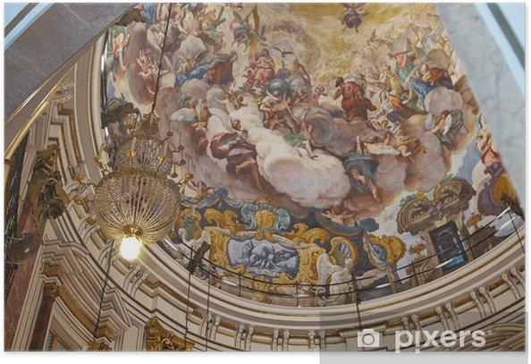 Poster Objets religieux d'or cathédrale de Valence, Espagne - Art et création