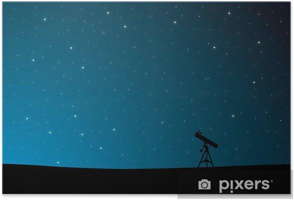Poster Observation des étoiles - Ciel