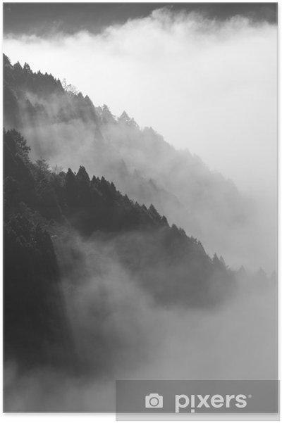Poster Ochtendzon uit te komen van de berg No.1 - Bergen