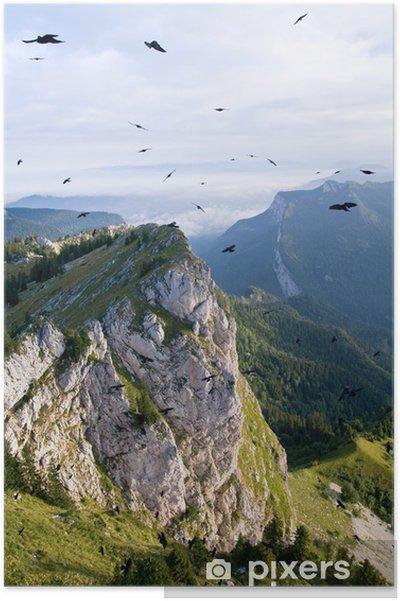 Poster Oiseaux dans le ciel de la Chartreuse dans les Alpes françaises - Sports d'extérieur