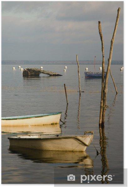 Poster Oiseaux et barques du Bassin d'Arcachon - Vacances