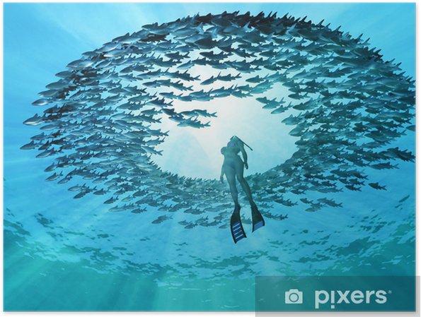 Póster Ojo del océano - Deportes acuáticos