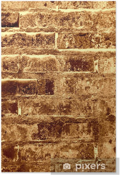 Old brick wall texture - brown Poster - Backgrounds