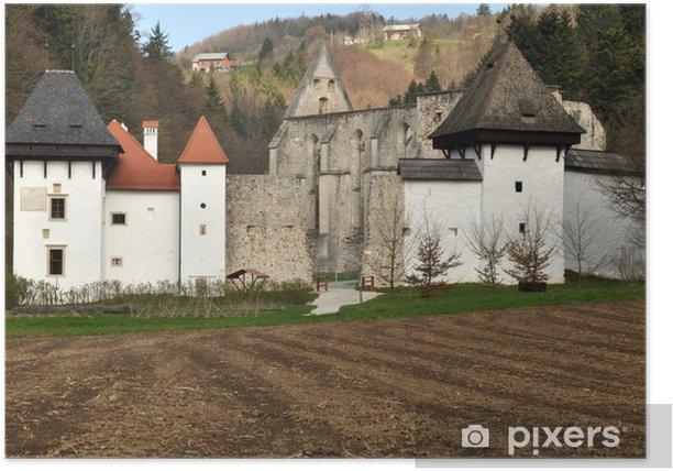 Old Carthusian monastery at Žiče, Slovenia Poster - Seasons